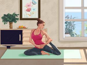 2式瘦腹瑜伽健康甩肉